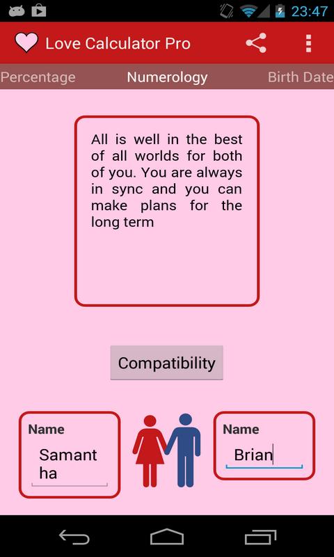 Free Marriage Compatibility Calculator