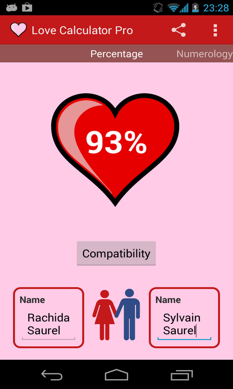 how to delete love calculator results